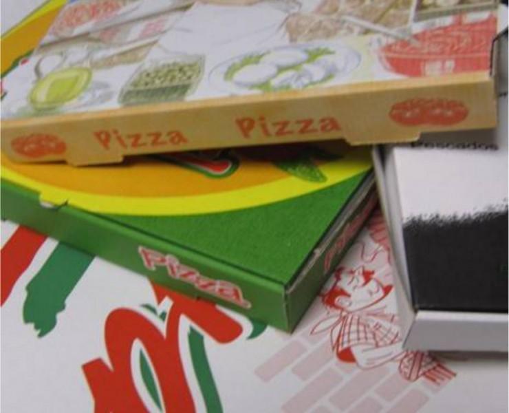 Cajas y porciones de Pizza
